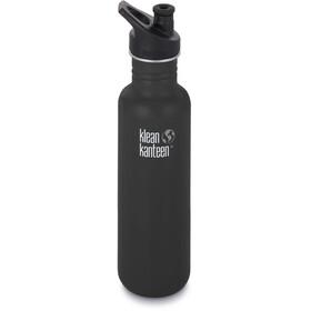 Klean Kanteen Classic Drikkeflaske Sport Cap 800ml, shale black matt